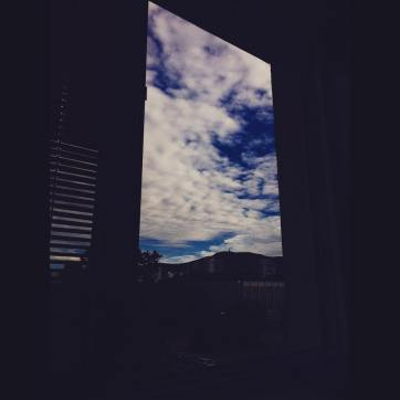window, clouds