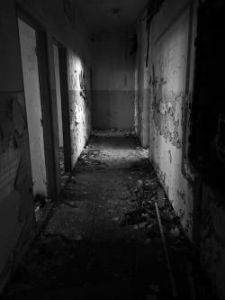 creepy destroyed halls