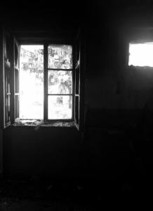 lonely window- burned room